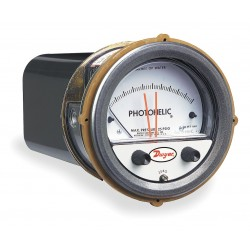 Dwyer Instruments - A3300-0 - 1/8 FNPT Differential Pressure Gauge with 5 Dial, -0.25 to 0 to 0.25 In. H2O, Die Cast Aluminum