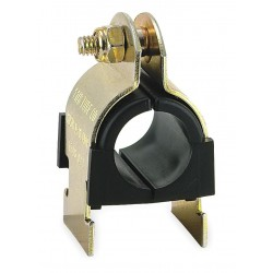 ZSI - 011N014 - Strut Mounted Cushioned Clamp, Electro Galvanized Gold