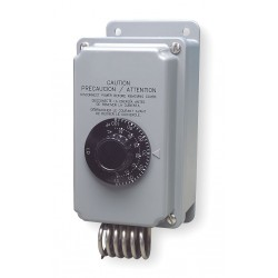 Peco - TH109-009 - Line Volt Mechanical Tstat for 2-Stage Heating or Cooling, 24, 120 to 277VAC