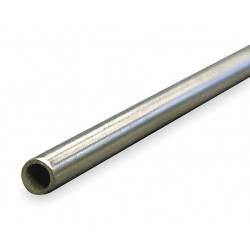 Other - 4NRX3 - 6 ft. Aluminum Tubing, 3/16 Outside Dia., 0.132 Inside Dia., Seamless