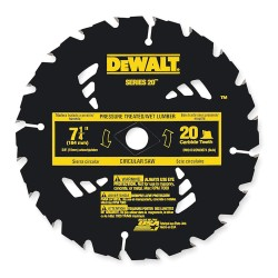 Dewalt - DW3574 - 7-1/4 Carbide Ripping Circular Saw Blade, Number of Teeth: 20