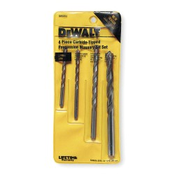 Dewalt - DW5204 - Dewalt #DW5204 4PC Mason Drill Bit Set