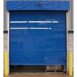 Goffs bbfmu12x10 royal blue motorized roll up face for 12 foot roll up door