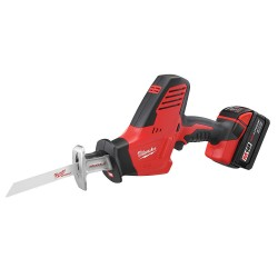 Milwaukee Electric Tool - 2625-21 - Milwaukee M18 Hackzall 18 V Lithium-Ion Redlithium XC 3000 SPM Cordless Reciprocating Saw Kit (Includes M18 And M12 Multi-Voltage Charger (48-59-1812), (2) M18 Redlithium Xc Extended Capacity Battery (48-11-1828),