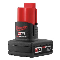 Milwaukee Electric Tool - 48-11-2402 - Milwaukee M12 Redlithium XC 12 V High Capacity Lithium-Ion Battery (For Use With Powers Milwaukee's M12 Cordless Tools), ( Each )