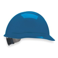 MSA - 804946 - MSA Blue Vanguard Polyethylene Cap Style Hard Hat With Fas Trac 4 Point Ratchet Suspension