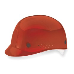MSA - 10033653 - MSA Red HDPE Cap Style Bump Cap With Pinlock Suspension And Low Profile Crown And Perforated Sides