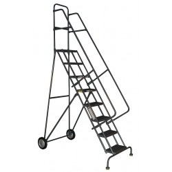 Tri Arc - KDRF107166 - 7-Step Rolling Ladder, Perforated Step Tread, 106 Overall Height, 450 lb. Load Capacity