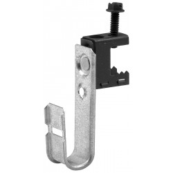 Cooper Tools / B-Line - BCH12-C1 - Silver J-Hook, Beam Mounting Location, 30 lb. Max. Load Capacity