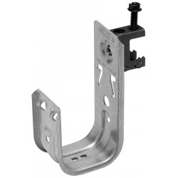 Cooper Tools / B-Line - BCH32-C1 - Silver J-Hook, Beam Mounting Location, 30 lb. Max. Load Capacity