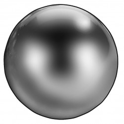 Thomson - 4RJT7 - Brass Precision Ball, 1/2 Diameter, 9.072g Weight