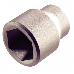 Ampco Safety Tools - SS-3/4D33MM - 33mm Aluminum Bronze Socket with 3/4 Drive Size and Natural Finish