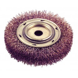 Ampco Safety Tools - WB-44 - Arbor Hole Wire Wheel Brush, Crimped Wire, 6 Brush Dia.