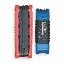 Eklind Tool - 25016 - Short Fold-Up Ergonomic SAE/Metric Black Oxide Hex Key Set, Number of Pieces: 16