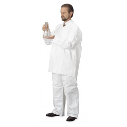 DuPont - TY303SWHLG0012G1 - Disposable Collared Shirt, White, L, PK12