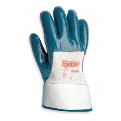 Ansell-Edmont - 27-607 - Smooth Nitrile Coated Gloves, Glove Size: M, White/Green