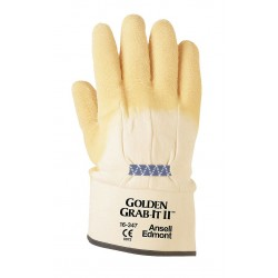 Ansell-Edmont - 16-347-10 - 216584 Golden Grab-it Iipremium Rubber Coated 10