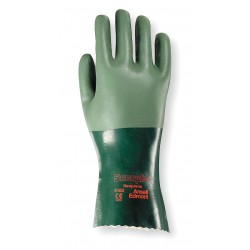 Ansell-Edmont - 08-352 - Chemical Resistant Gloves, Standard Weight Thickness, Interlock Knit Lining, Green, PR 1