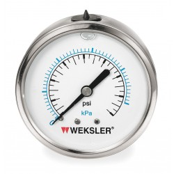 Weksler - BY42YPJ4CW - 2 1/2in 0/300 Psi Lqd Fill Ss 1/4in Bc