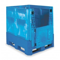 Buckhorn / Myers Industries - BG4840460263000 - Collapsible Bulk Container, Blue, 46H x 48L x 40W, 1EA