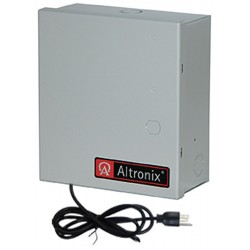 Altronix - ALTV615D416UBM3 - Steel Power Supply 16PTC 6-15VDC @ 4A Small Enclosure Line Cord with Gray Finish