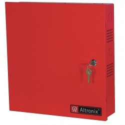 Altronix - BC300R - Steel Enclosure Lg Fits 2- 7Ah Battery Red with Red Finish
