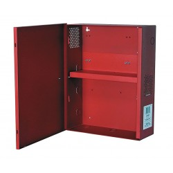 Altronix - BC400SR - Steel Enclosure Xlg Fits 2- 12Ah Battery W/Shelf Red with Red Finish