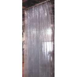 Goffs - 5X15CC - Clear Manual Slide Suspend Mount Curtain Wall 5 ft.W x 15 ft.H