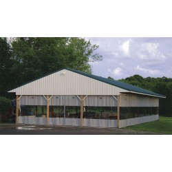 Goffs - 24X10ODCW - Gray Manual Slide Suspend Mount Curtain Wall 24 ft.W x 10 ft.H