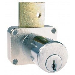 CompX - C8179-103-26D - Keyed Alike Drawer Dead Bolt, For Door Thickness (In.): 1-3/8, Dull Chrome