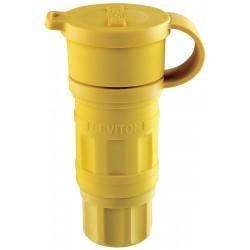 Leviton - 15W47 - Leviton 15W47 15 Amp Watertight Connector, 125V, 5-15R, Yellow