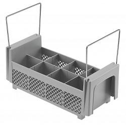 Cambro - CA8FB434151 - 20 x 18 x 4-3/4 Half Flatware Basket, Gray