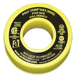 Anti-Seize - 46330A - 1/2W PTFE Gas Line Sealant Tape, Yellow, 260 Length