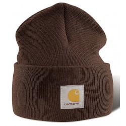 Carhartt - A18 DKB OFA - Knit Cap, Dark Brown, Universal