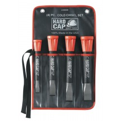 "Mayhew Tools - 66900 - 7"", 8"", 8-1/2"" Steel with Composite Polymer Cap Cold Chisel Set&#x3b; Number of Pieces: 4"