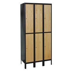 Hallowell - UW3288-2MEW - Wardrobe Locker, Unassembled, Two Tier, 36 Overall Width