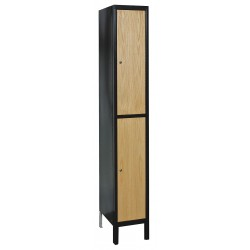 Hallowell - UW1588-2A-MEW - Wardrobe Locker, Assembled, Two Tier, 15 Overall Width