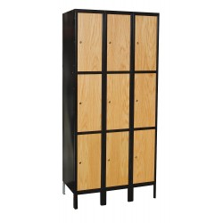 Hallowell - UW3288-3A-MEW - Wardrobe Locker, Assembled, Three Tier, 36 Overall Width