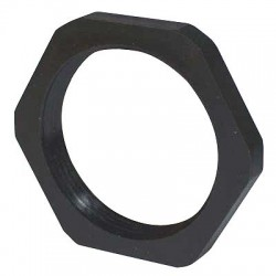 Energy Chain / Igus - I-BMN-09 - PG09 Connector Lock Nut, Polyamide, Black