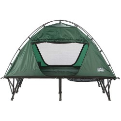 Kamp-Rite Tent Cot - DCTC343 - 84 x 52 Double Tent Cot w/Rain Fly with 550 lb. Weight Capacity; Green