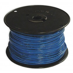 Southwire - 11582401 - 500 ft. Solid Building Wire with THHN Wire Type and 14 AWG Wire Size, Blue