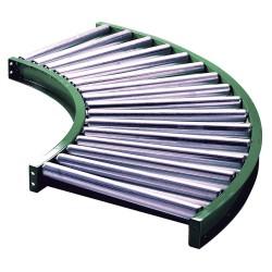 Ashland Conveyor - 10F90KG03B16 - Roller Conveyor, 90 Curve, 16BF
