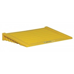 "Justrite - 28650 - Justrite 48"" X 6 1/4"" X 33"" Yellow Polyethylene Ramp (For EcoPolyBlend 2 Drum And Larger Accumulation Center)"