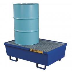 Justrite - 28610 - Drum Spill Cntnmnt, Blue, 2 Drum, 72 Gal.