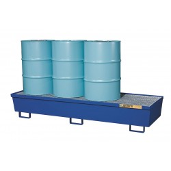 Justrite - 28612 - Drum Spill Cntnmnt, Blue, 4 Drum, 102 Gal.