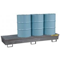 Justrite - 28613 - Justrite 94 1/8' X 31 1/2' X 13 1/16' Silver Galvanized Steel Spill Containment Pallet, ( Each )