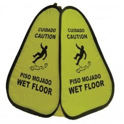 Novus Products - PC16WF - Accident Prevention, Caution/Cuidado, Nylon, 16 x 12-1/2, Not Retroreflective