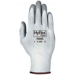 Ansell-Edmont - 11-800 - 15 Gauge Foam Nitrile Coated Gloves, Glove Size: 2XL, Gray/White