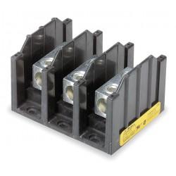 Cooper Bussmann - 16303-3 - Eaton/Bussmann Series 16303-3 Splicer Terminal Block, 3-Pole, Single Primary - Single Secondary