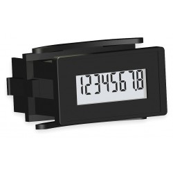 Redington - 6320-1000-0000 - Hour Meter, 3 to 30VDC Operating Voltage, Number of Digits: 8, Rectangular Bezel Face Shape